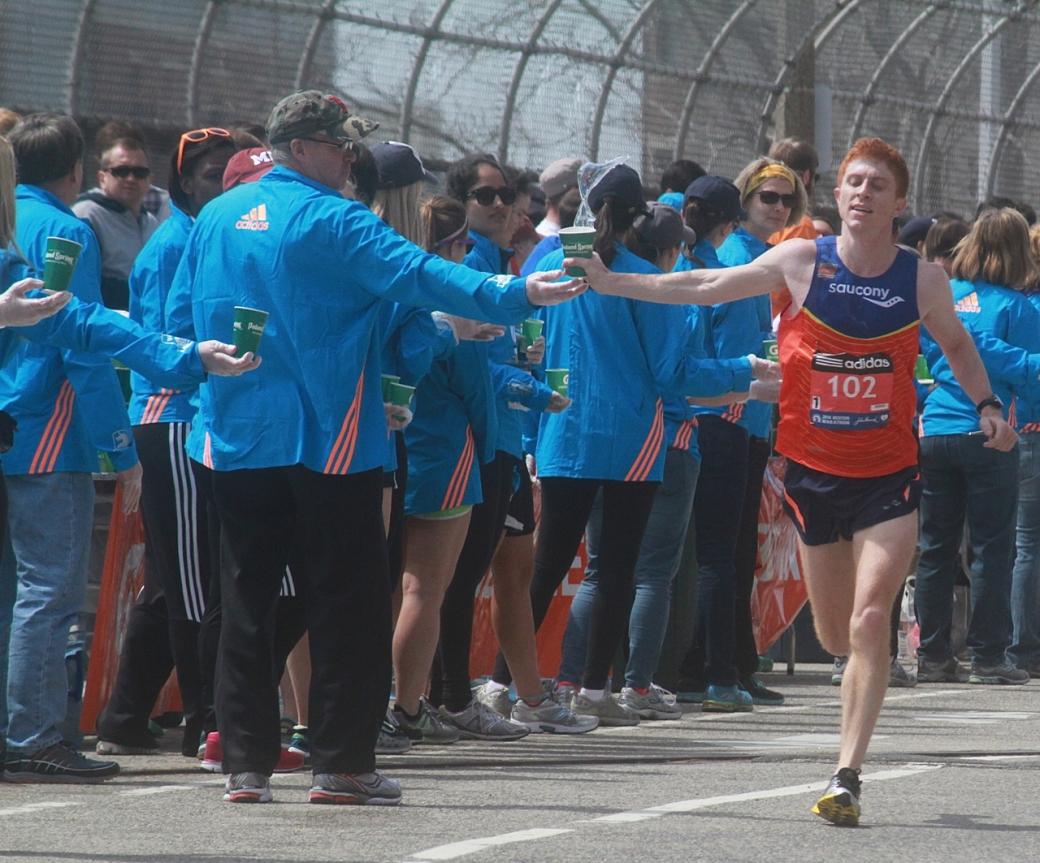 boston marathon april 21 beacon street elite runners number 102