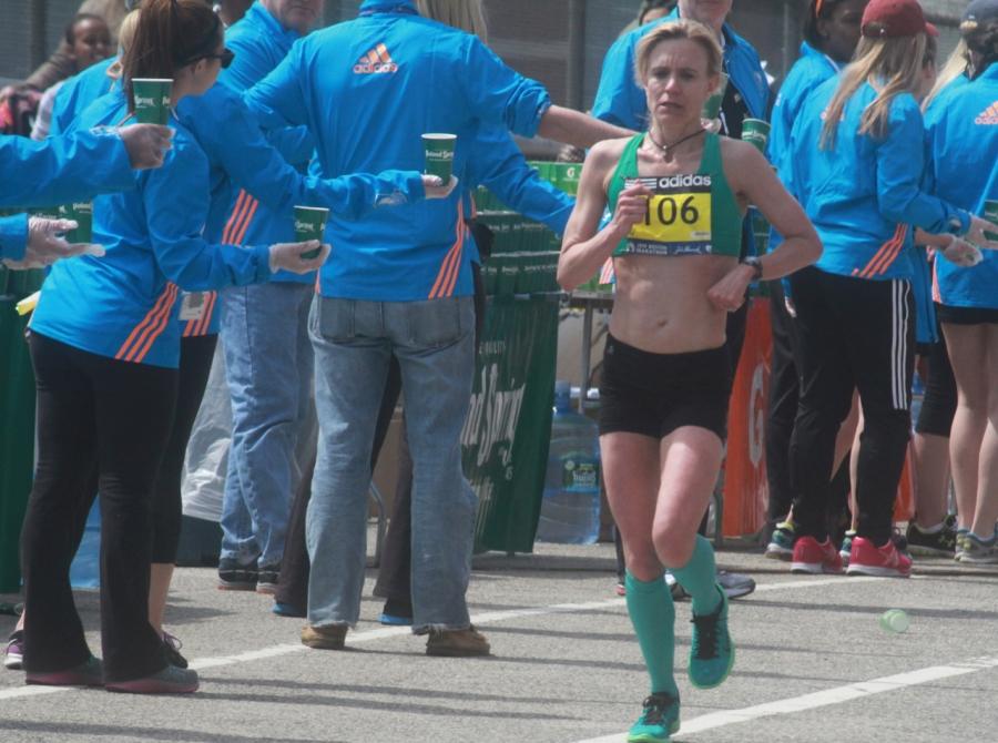 boston marathon april 21 beacon street elite runners number 106