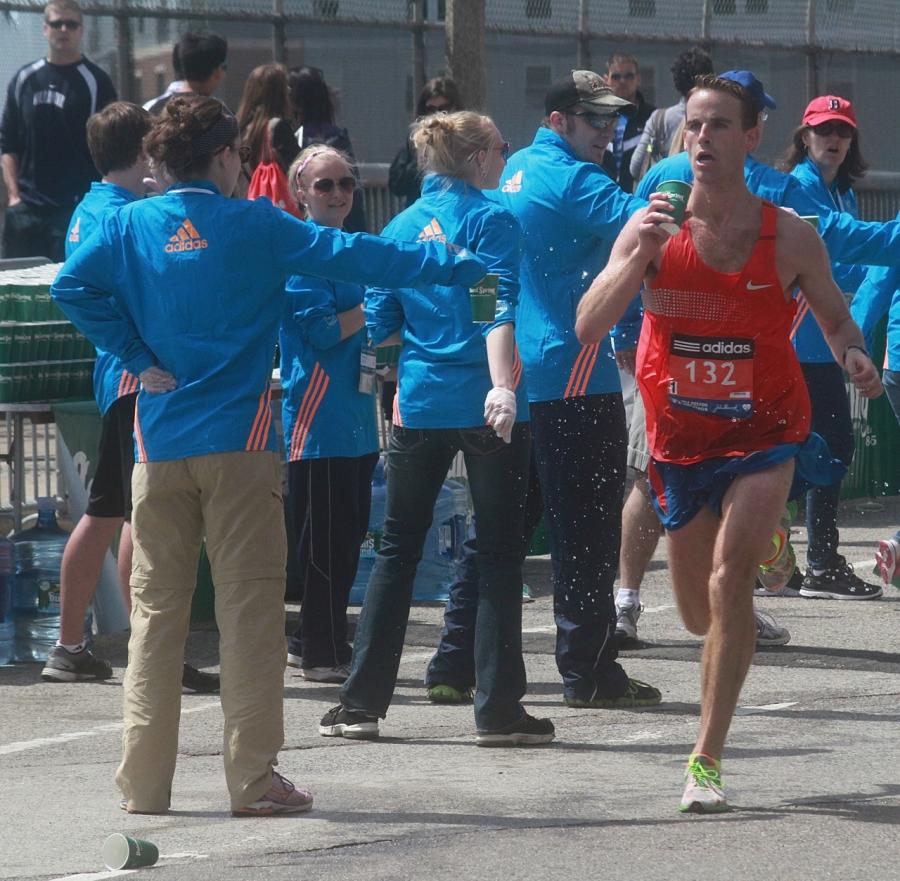 boston marathon april 21 beacon street elite runners number 132