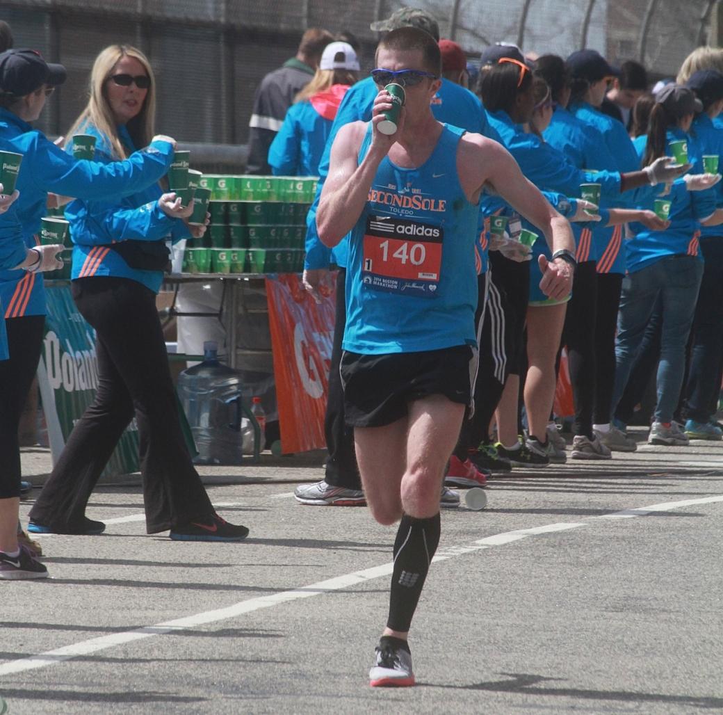 boston marathon april 21 beacon street elite runners number 140