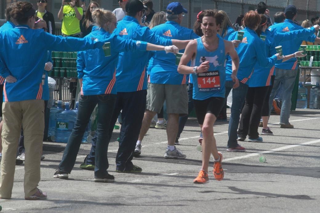 boston marathon april 21 beacon street elite runners number 144