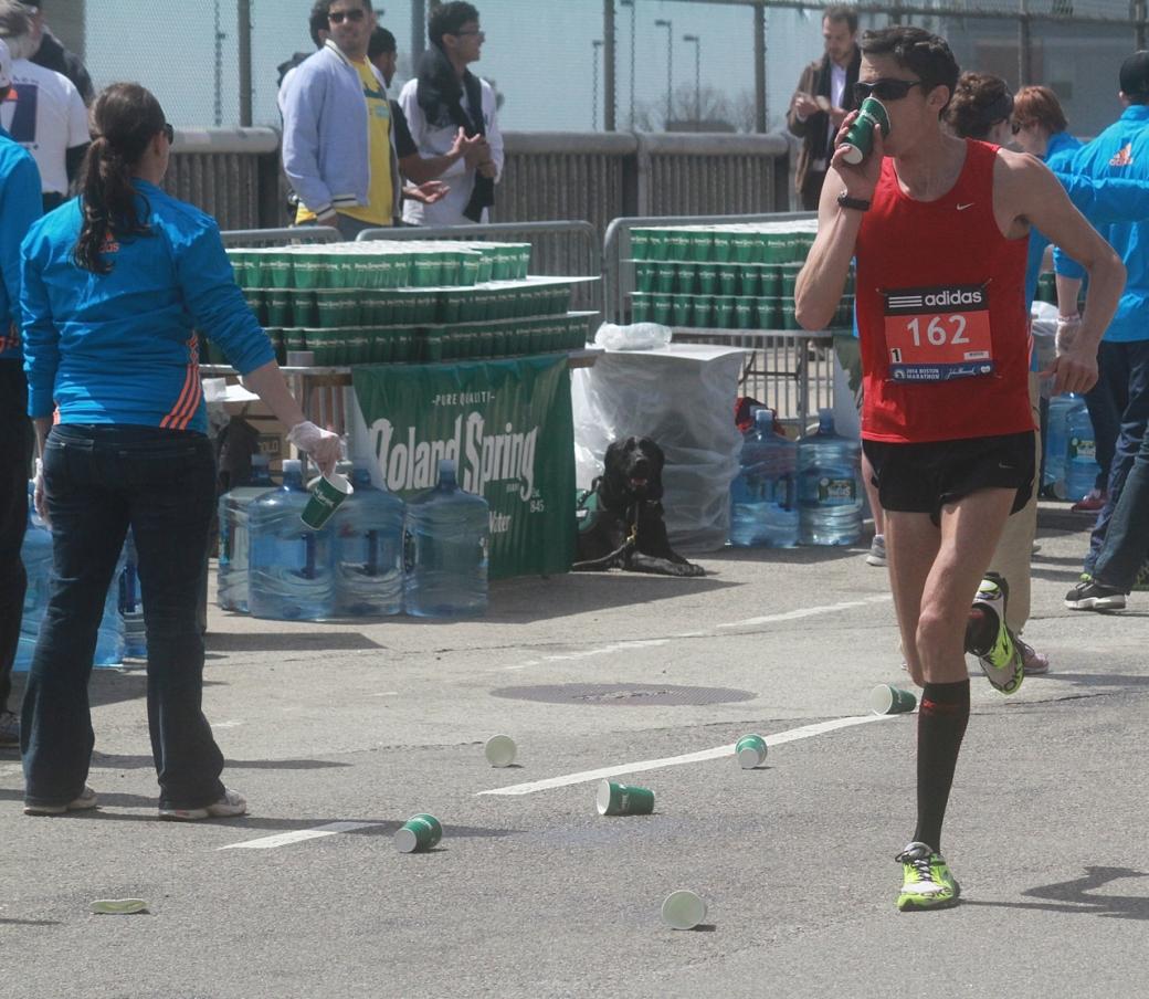 boston marathon april 21 beacon street elite runners number 162