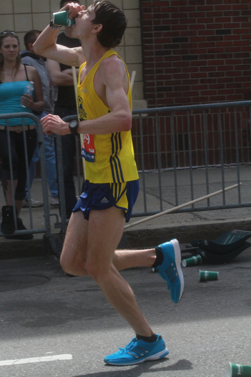 boston marathon april 21 beacon street elite runners number 199 2