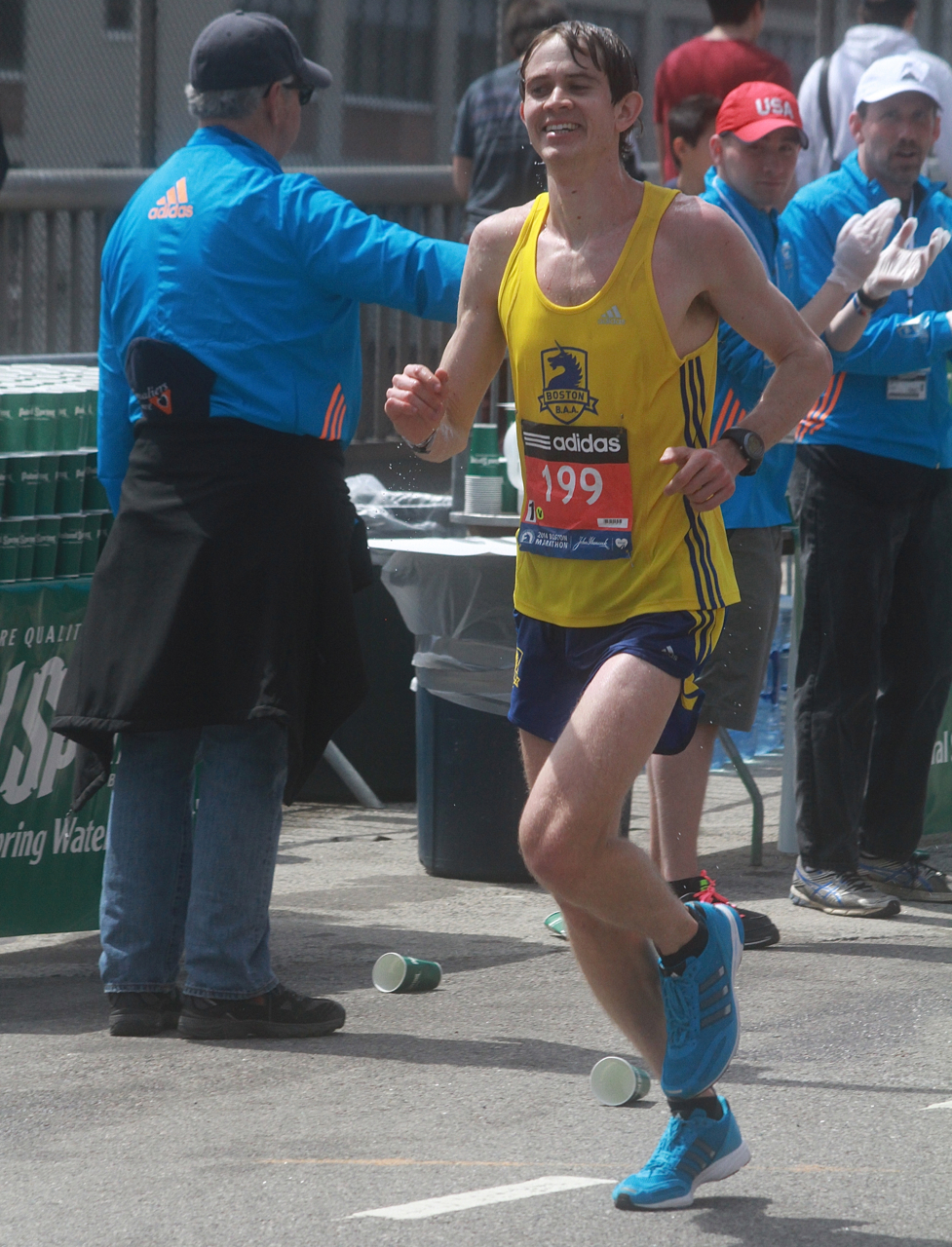 boston marathon april 21 beacon street elite runners number 199