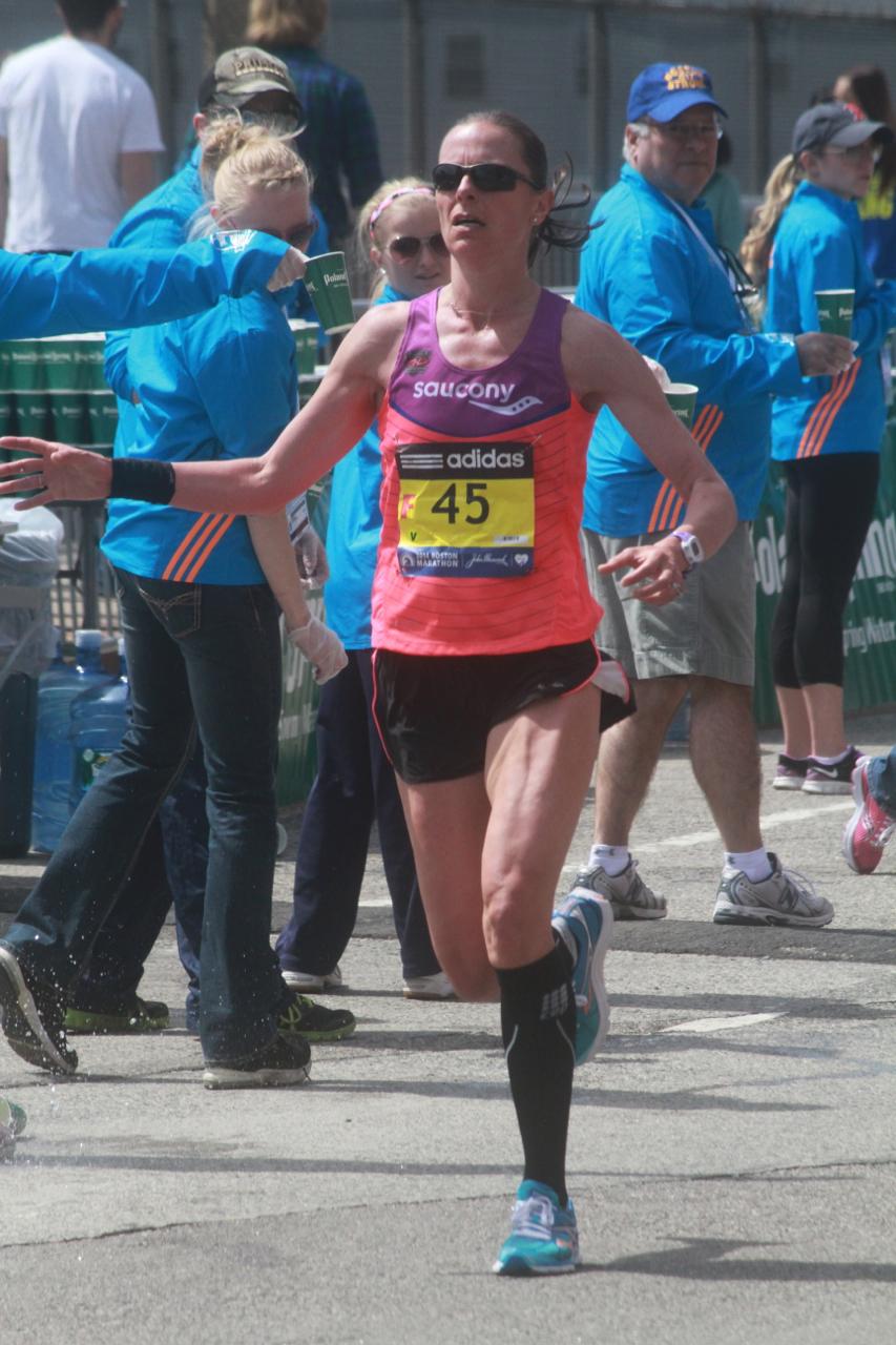 boston marathon april 21 beacon street elite runners number 45