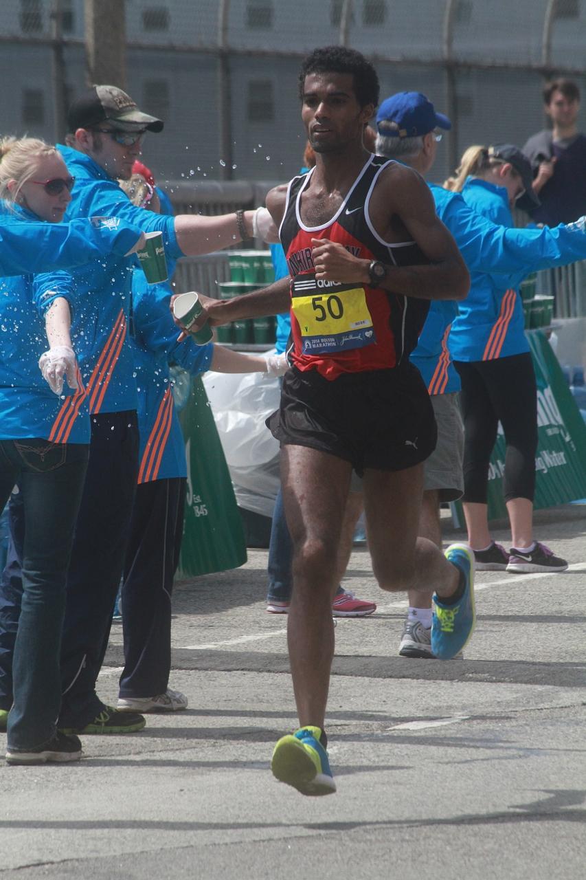 boston marathon april 21 beacon street elite runners number 50