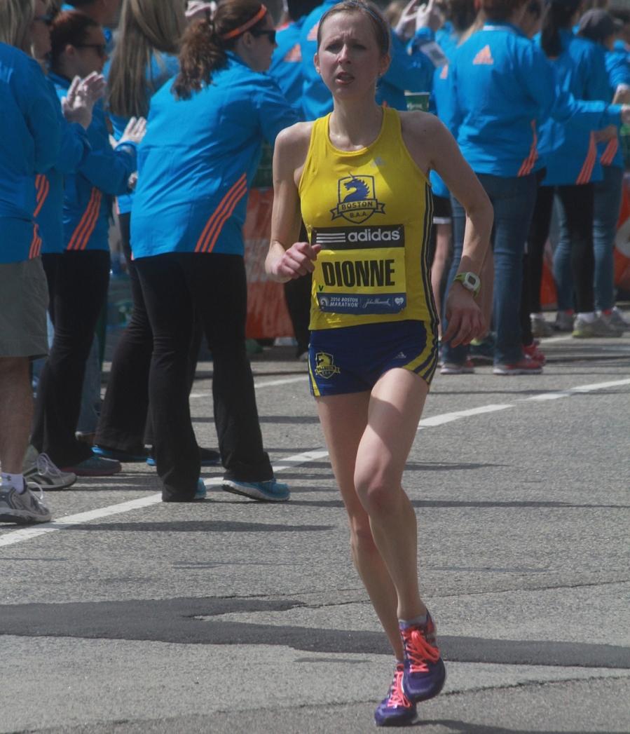 boston marathon april 21 beacon street elite runners runner dionne