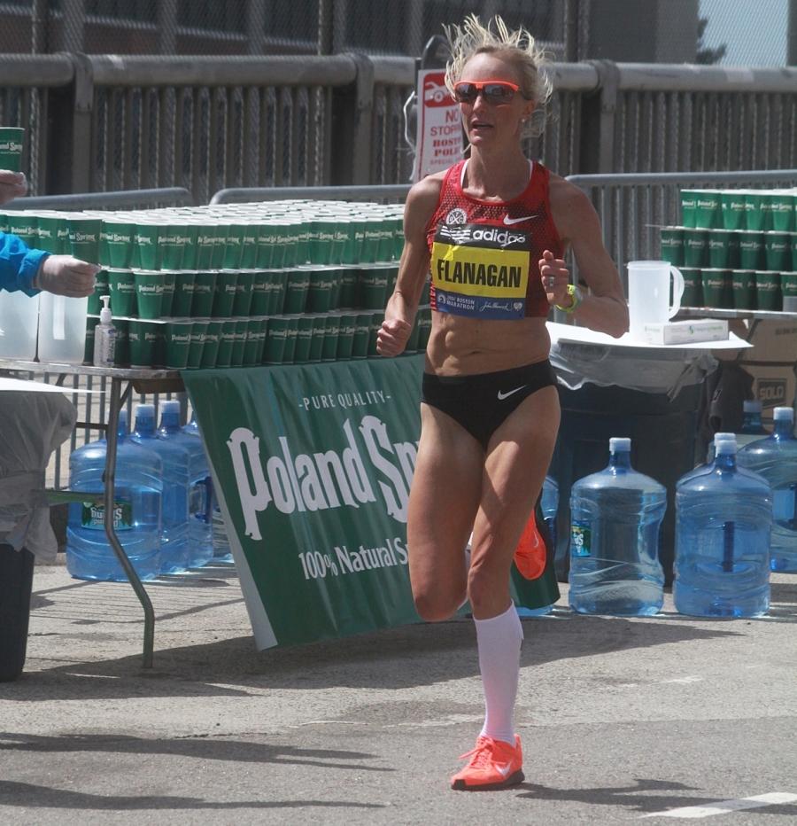 boston marathon april 21 beacon street elite runners shalane flanagan