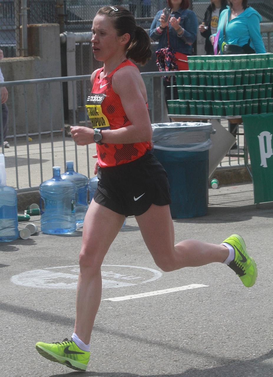 boston marathon april 21 beacon street elite runners Tatiana Petrova Arkhipova