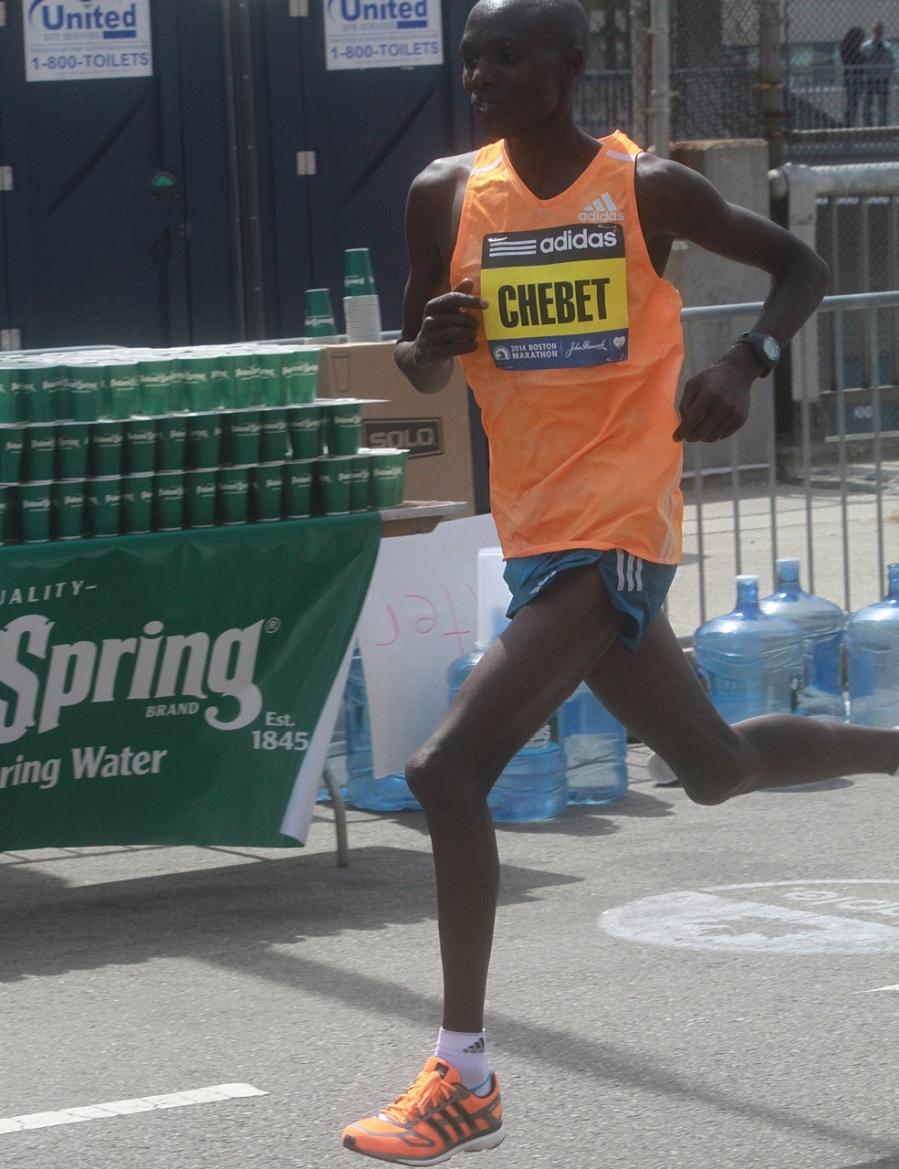 boston marathon april 21 beacon street elite runners wilson chebet
