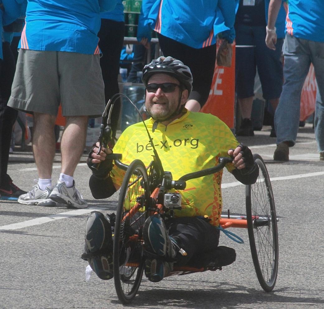 boston marathon april 21 beacon street handicapped racer be x org