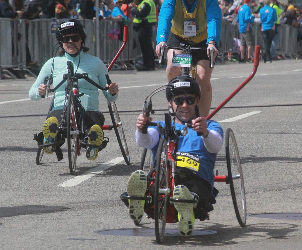 boston marathon april 21 beacon street handicapped racers group 2