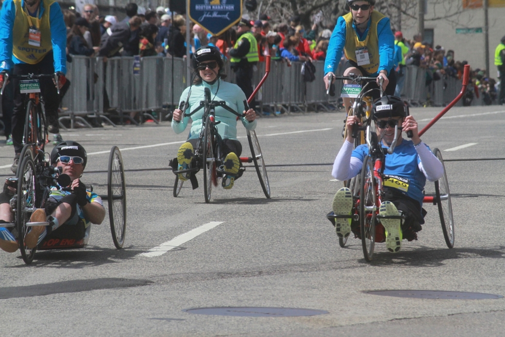 boston marathon april 21 beacon street handicapped racers group