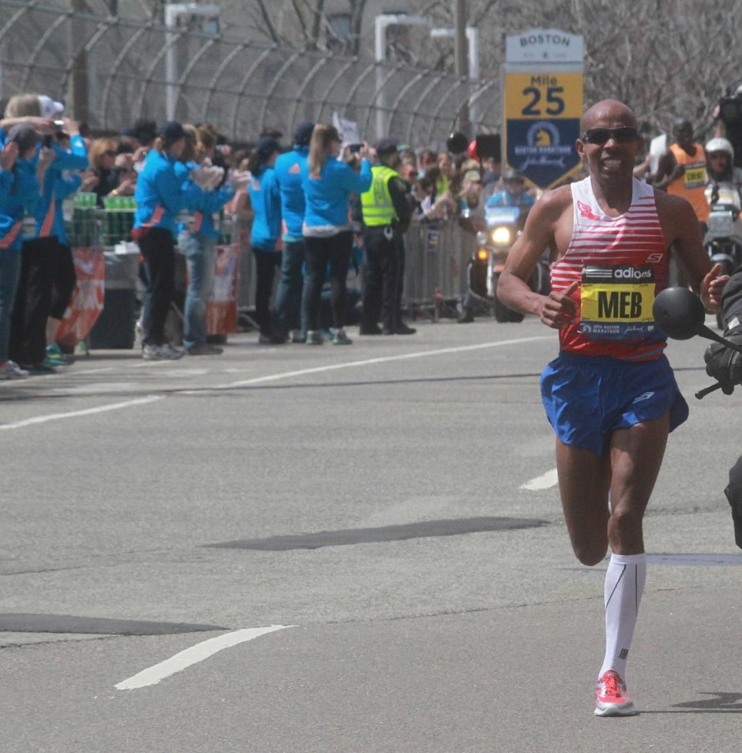boston marathon april 21 beacon street Meb Keflezighi men's winner American