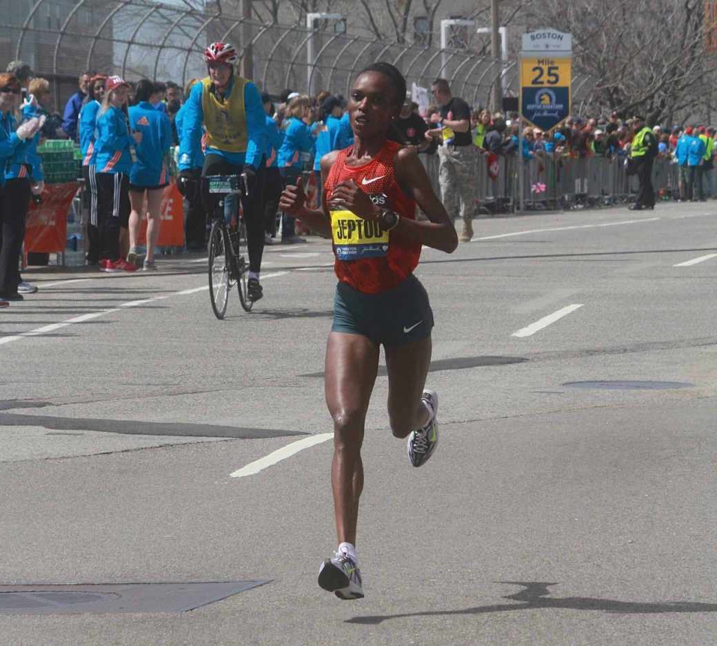 boston marathon april 21 beacon street rita jeptoo boston marathon winner
