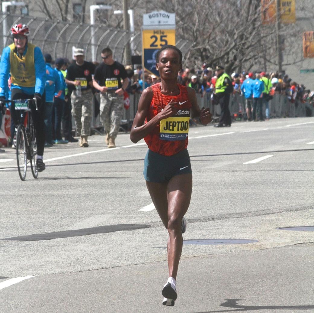 boston marathon april 21 beacon street winner rita jeptoo