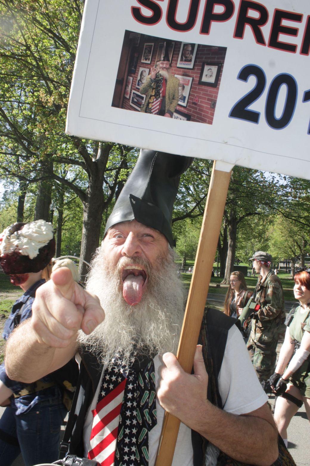 boston zombie walk may 17 vermin supreme