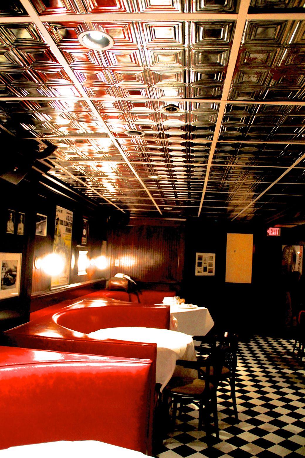 boston back bay social club checker floor downstairs
