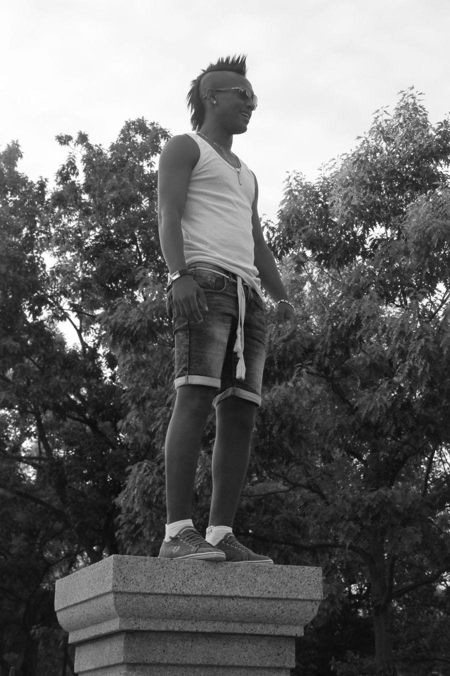 boston boston common guy standing on entrance 3