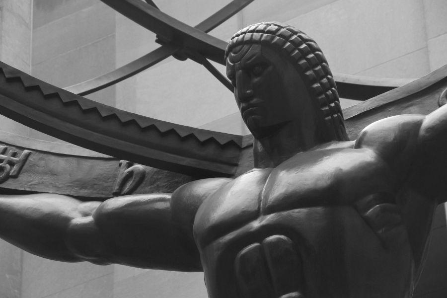 new york city fifth avenue atlas statue