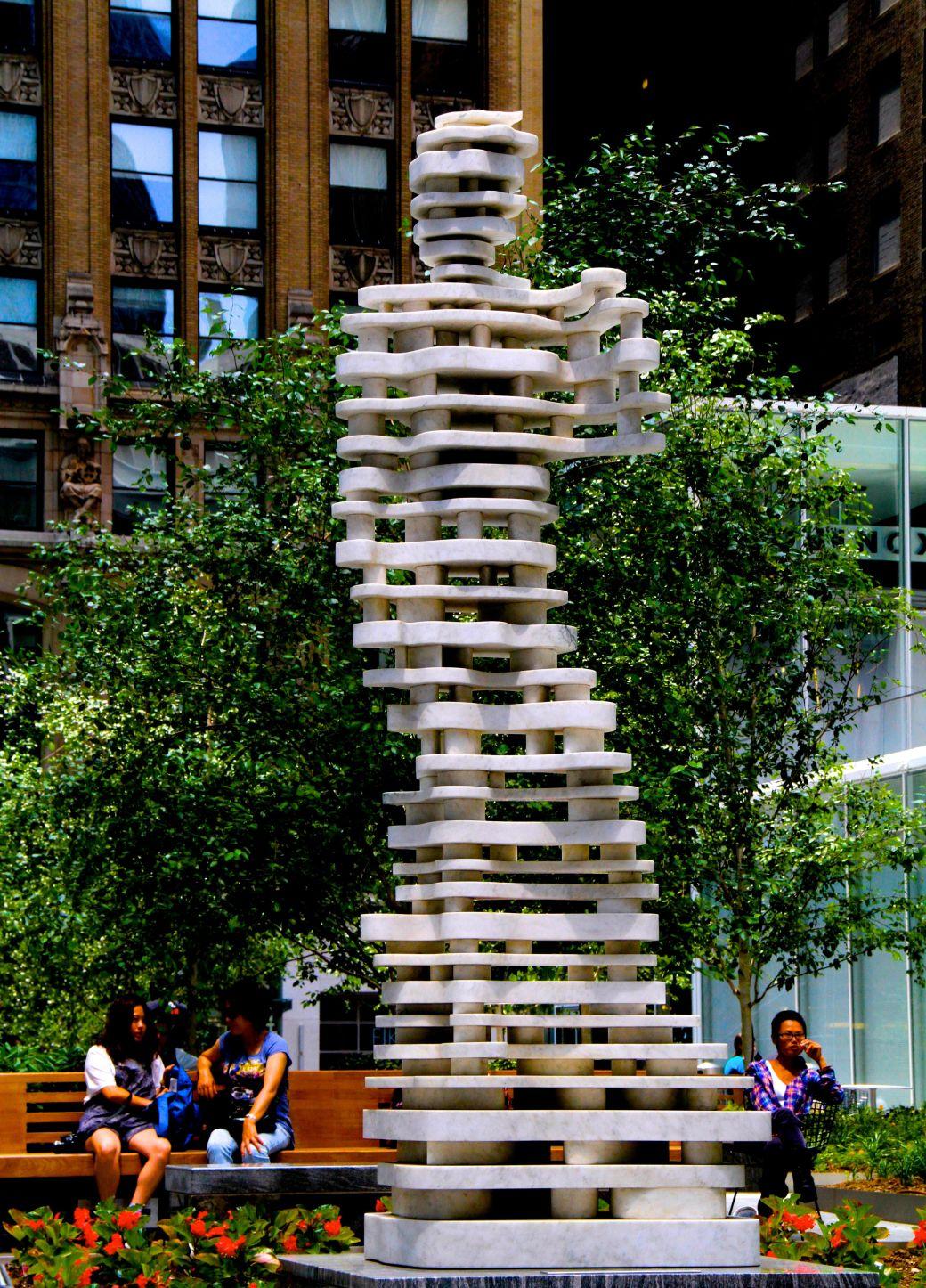 new york city public art david chopped up