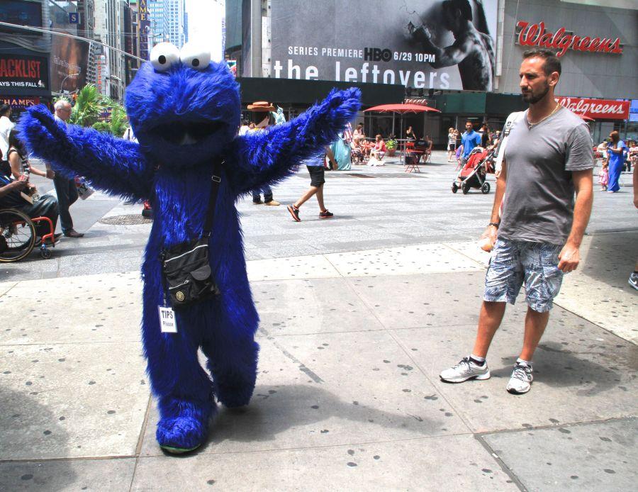 new york city times square elmo