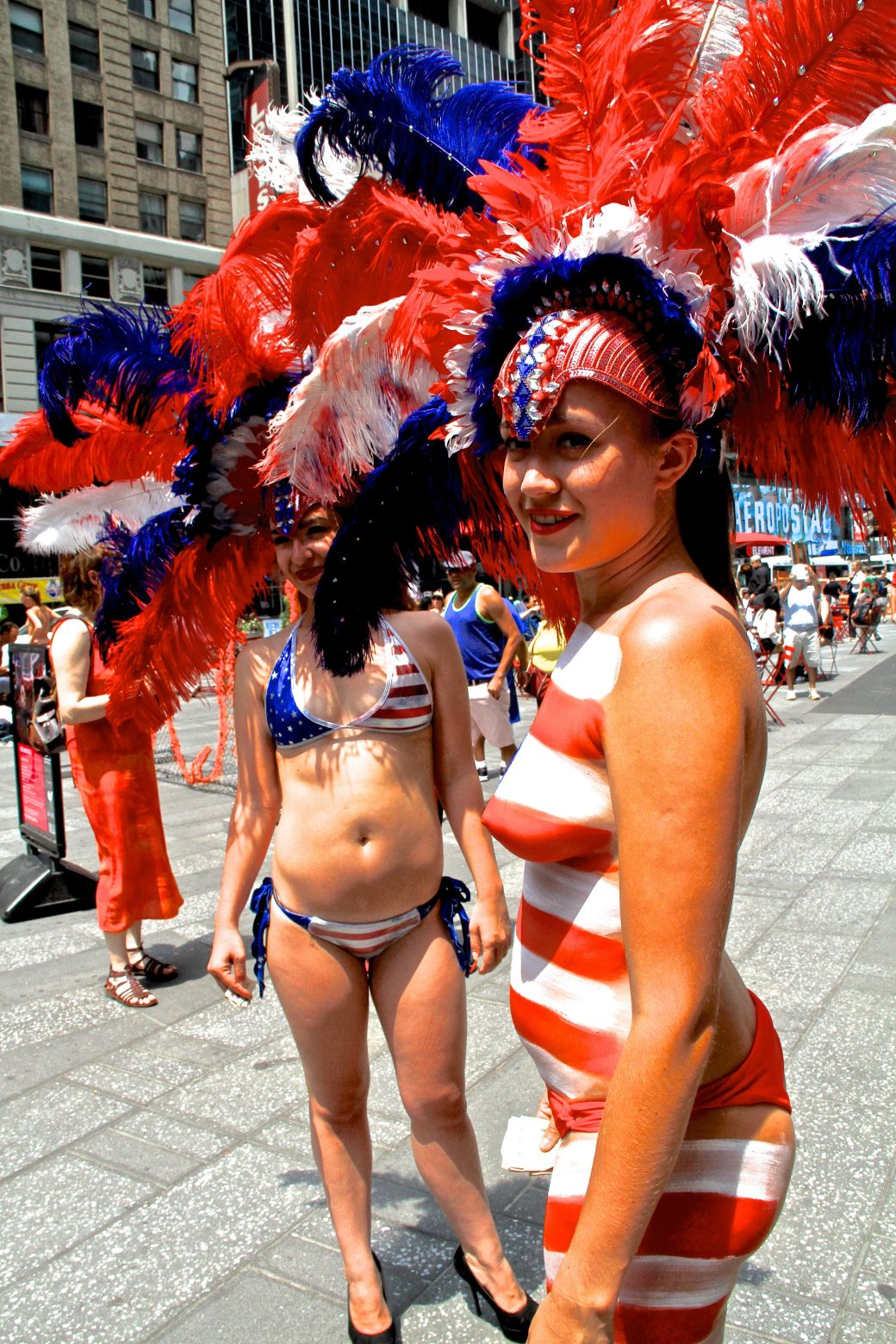 new york city times square woman in bikini naked woman 2