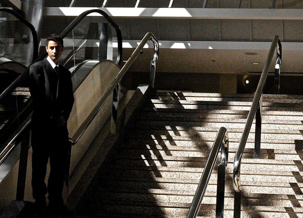 boston comic con august 8 world trade center staircase guard