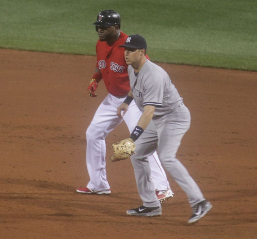 boston red sox fenway park game against yankees august 1 2014 big papi david ortiz first base