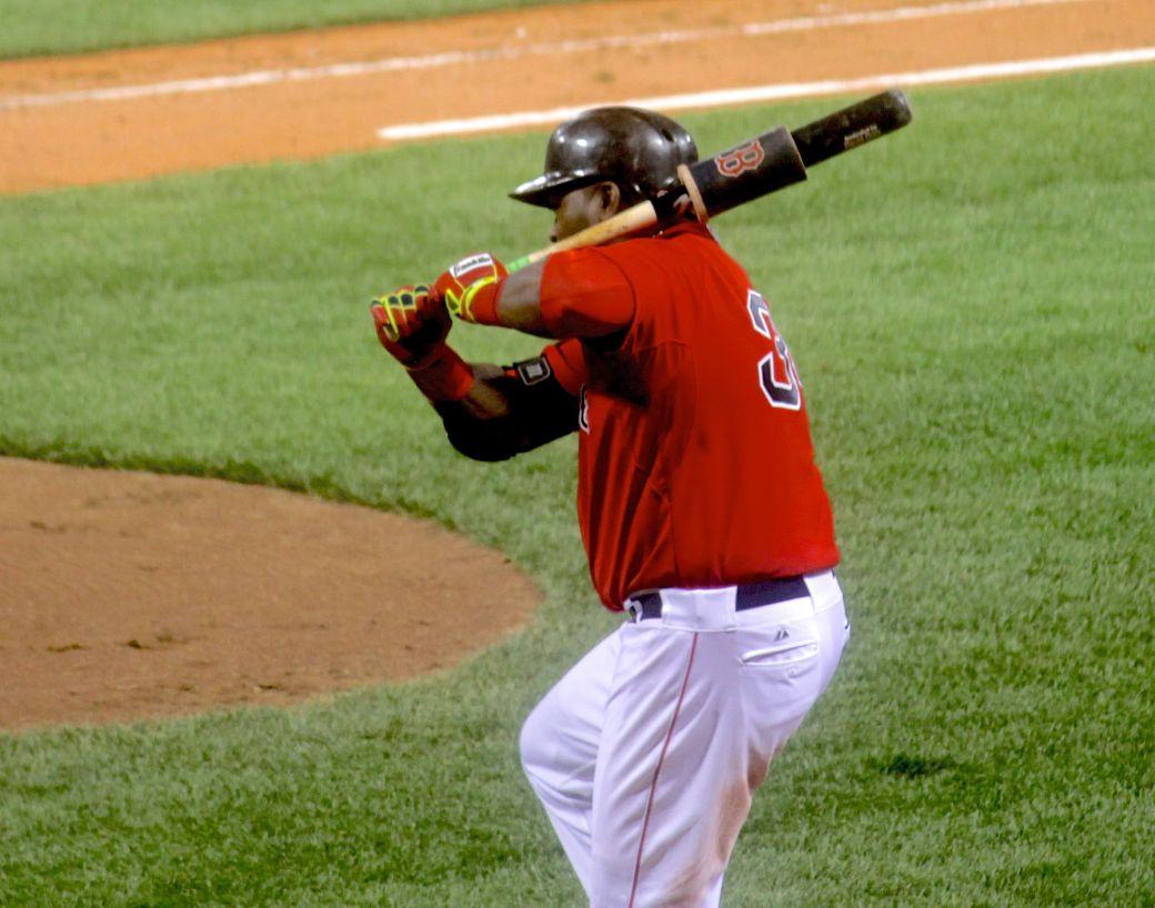 boston red sox fenway park game against yankees august 1 2014 david ortiz big papi with bat
