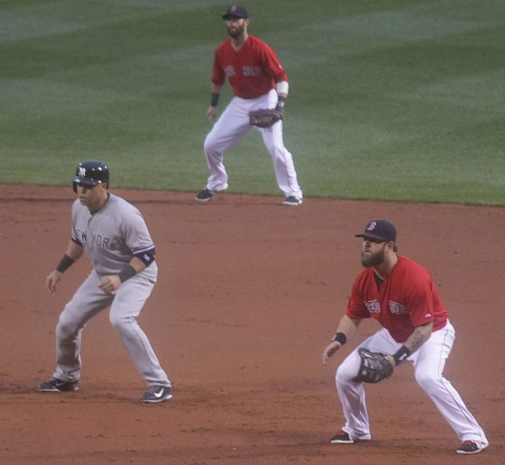 boston red sox fenway park game against yankees august 1 2014 outfielders