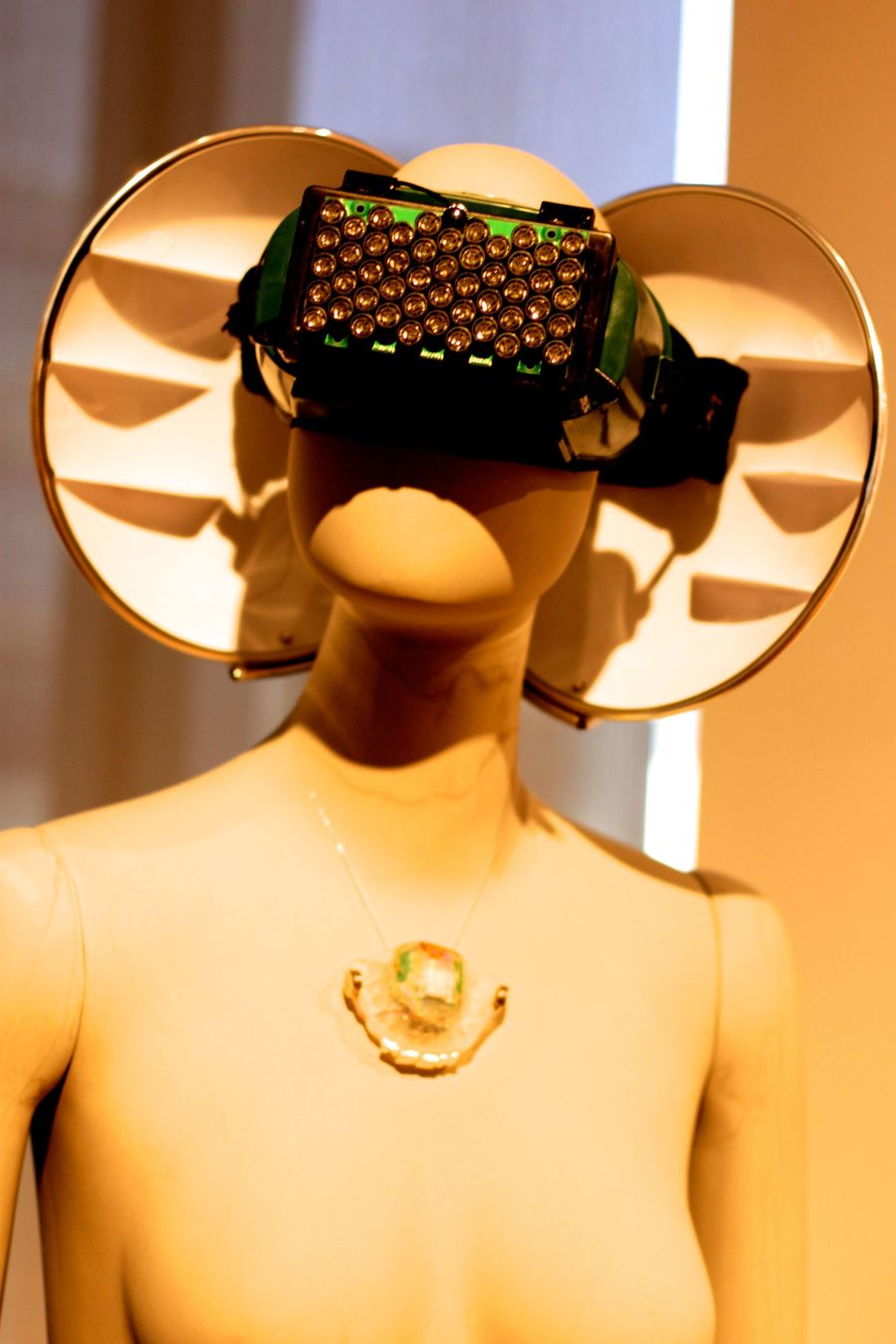 new york city museum of arts and design mannequin with electronics