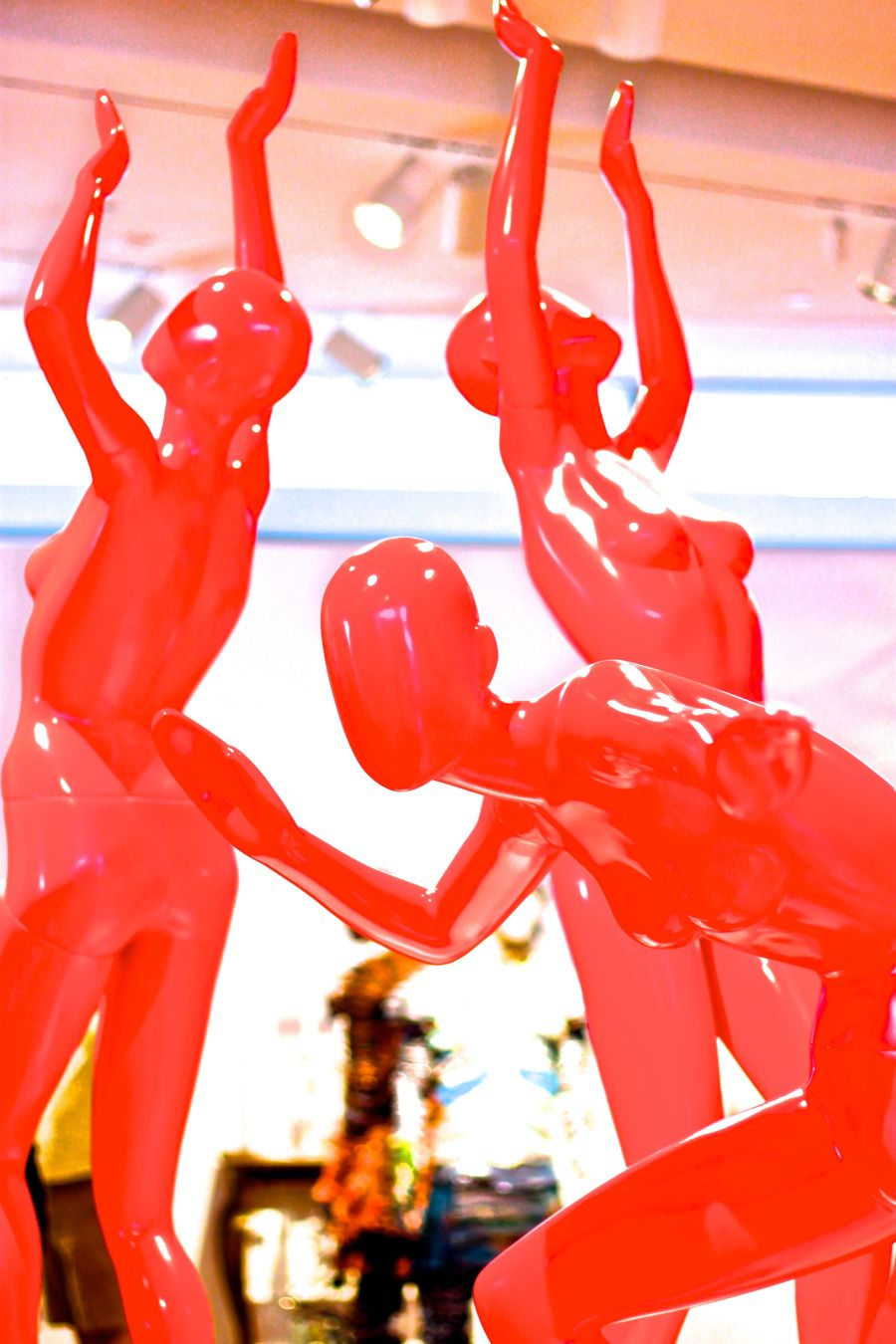 new york city museum of arts and design red mannequins 1