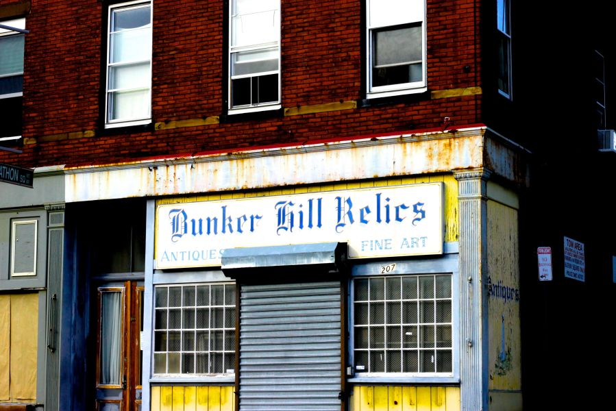 boston charlestown bunker hill relics shop color