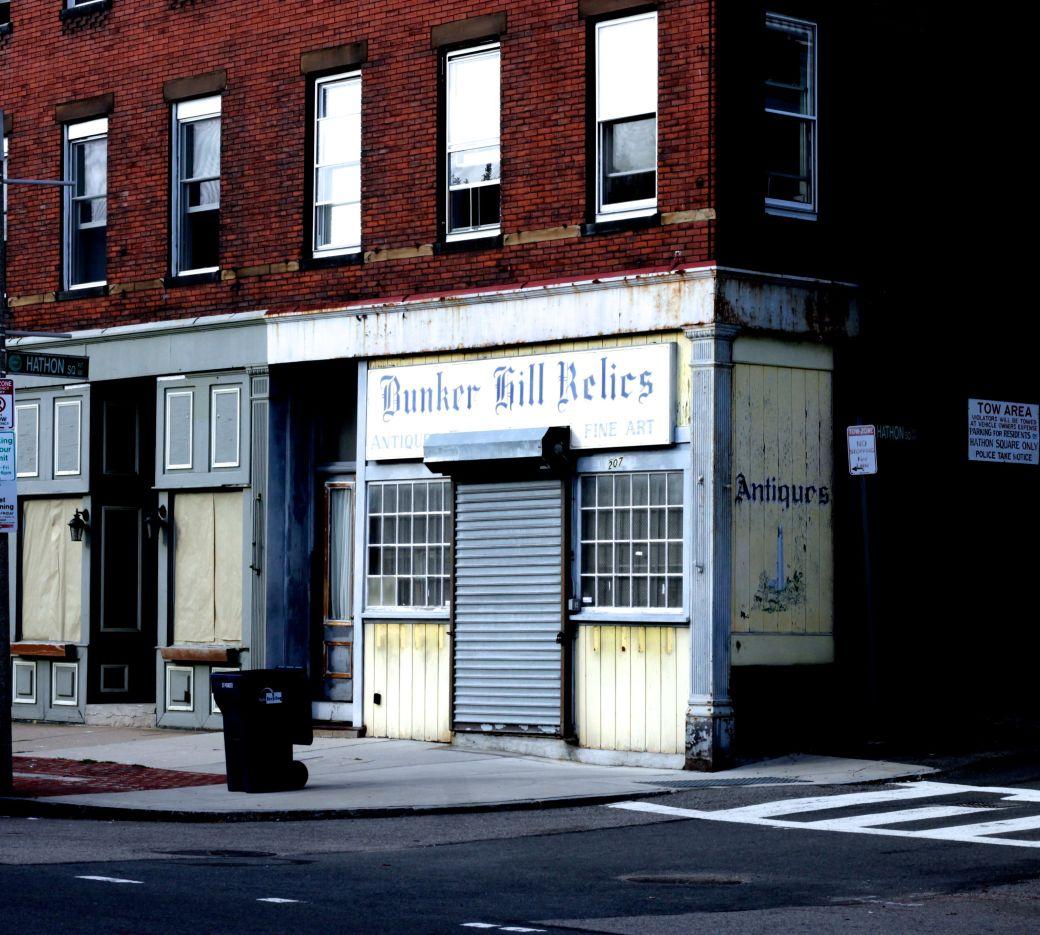 boston charlestown bunker hill relics shops