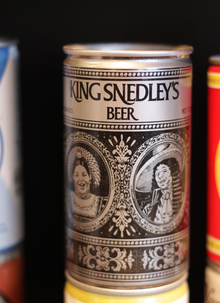 boston harpoon brewery beer can collection 10 king snedley's beer