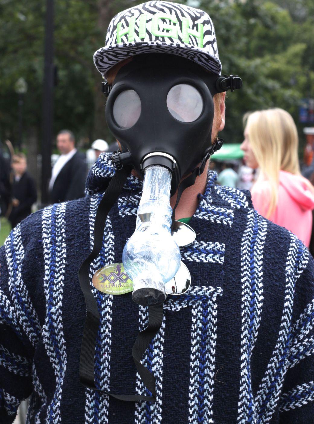 boston hemp fest 2014 park street people bong mask