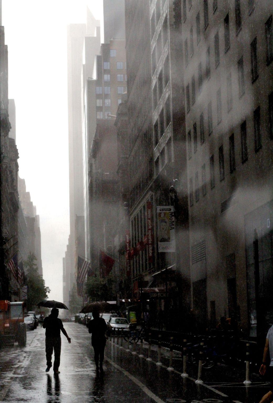 new york city rain storm august 31 street