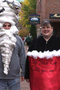 salem halloween october 31 2014 red solo cup sharknado man