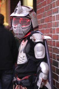 salem halloween october 31 2014 robot warrior costume