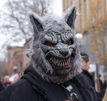 salem halloween october 31 2014 werewolf mask man