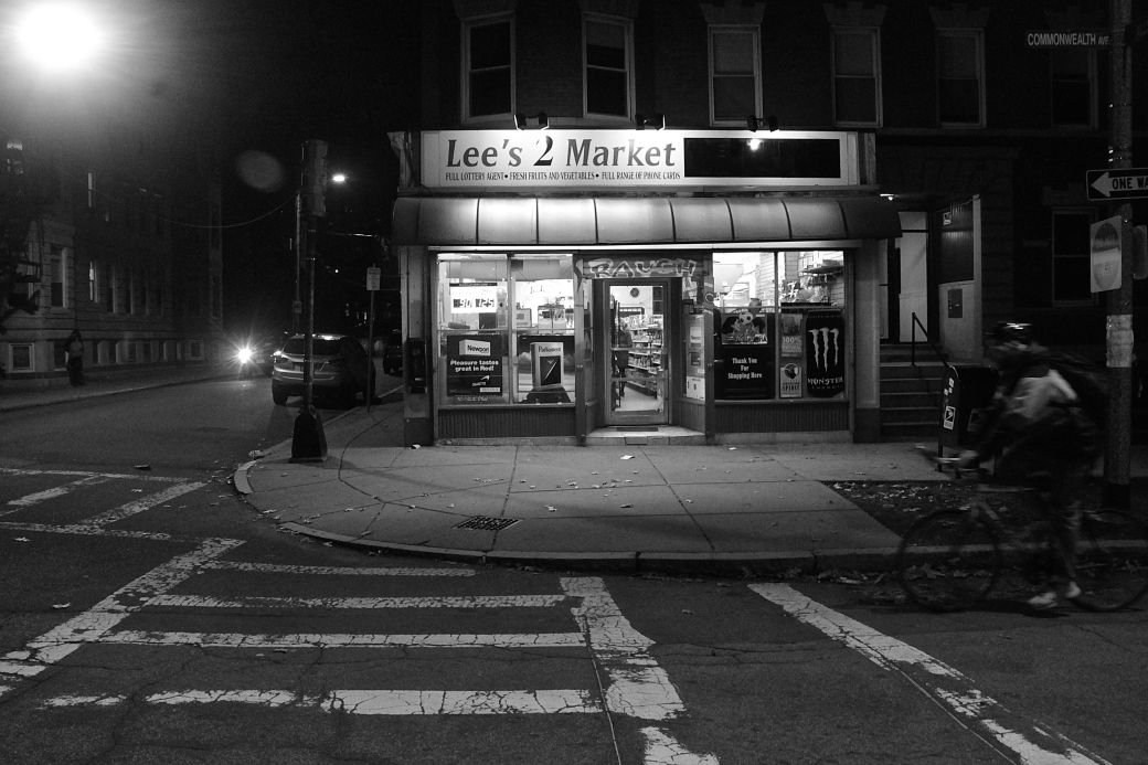 boston allston commonwealth avenue nighttime lee 2 market