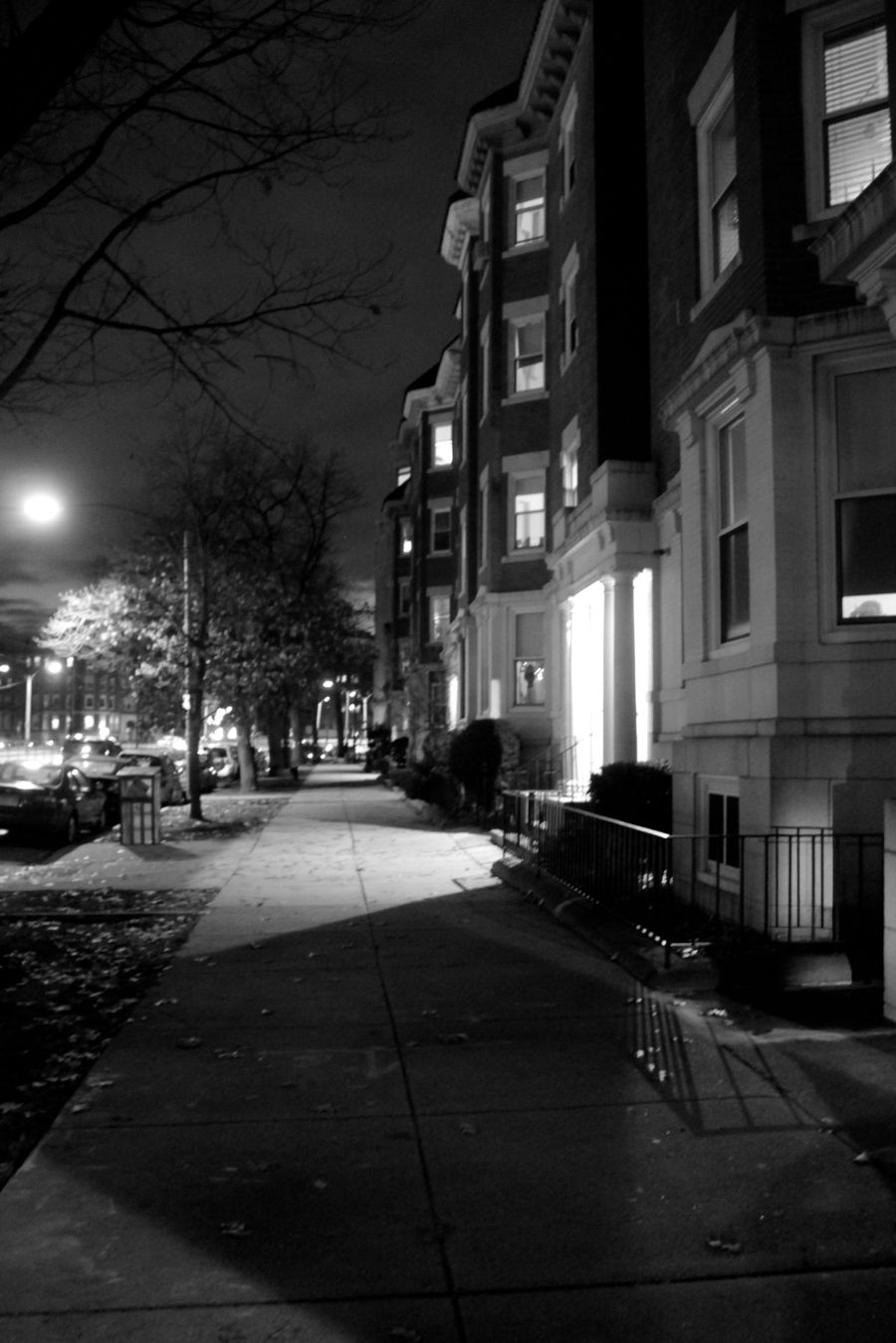 boston allston commonwealth avenue nighttime shadows