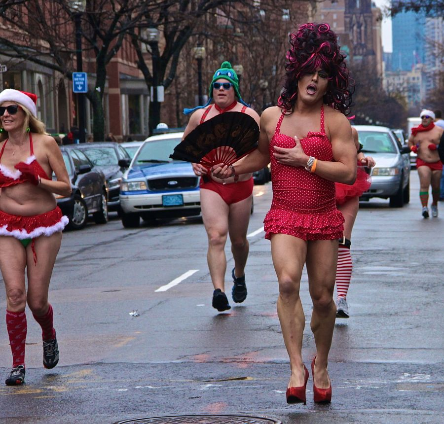boston boylston street santa speedo run december 6 2014 70