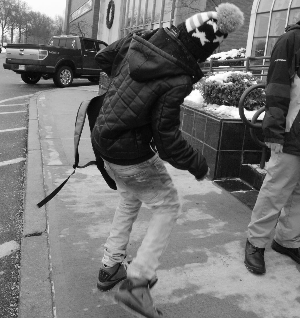 boston boston globe friend jumping