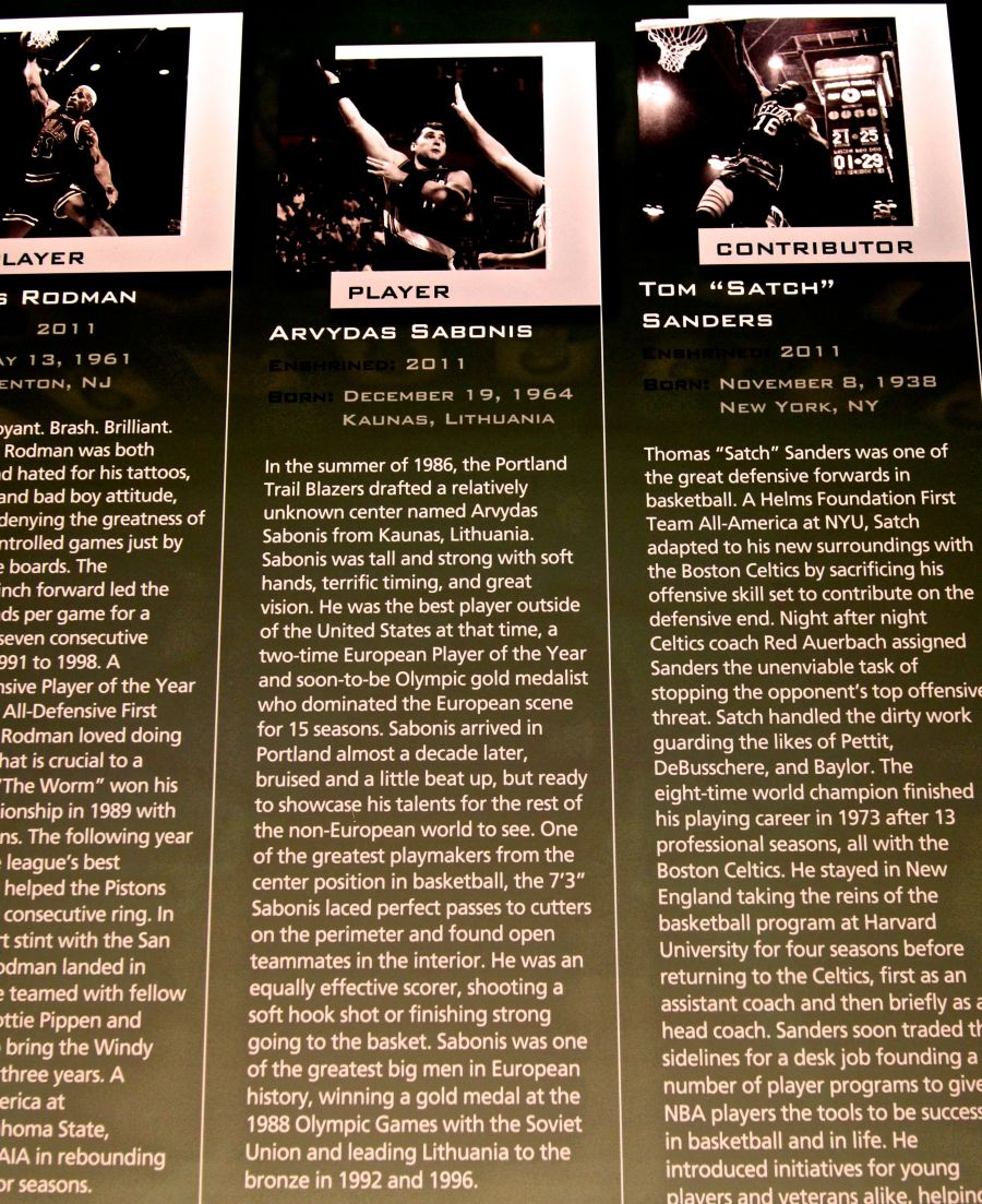 Springfield Naismith Memorial Basketball Hall of Fame arvydas sabonis biography