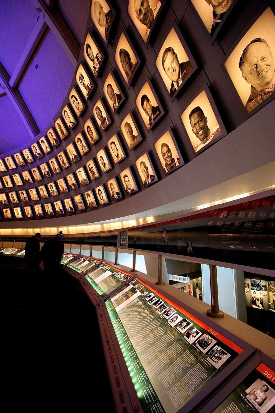 Springfield Naismith Memorial Basketball Hall of Fame hall of fame portraits and biographies