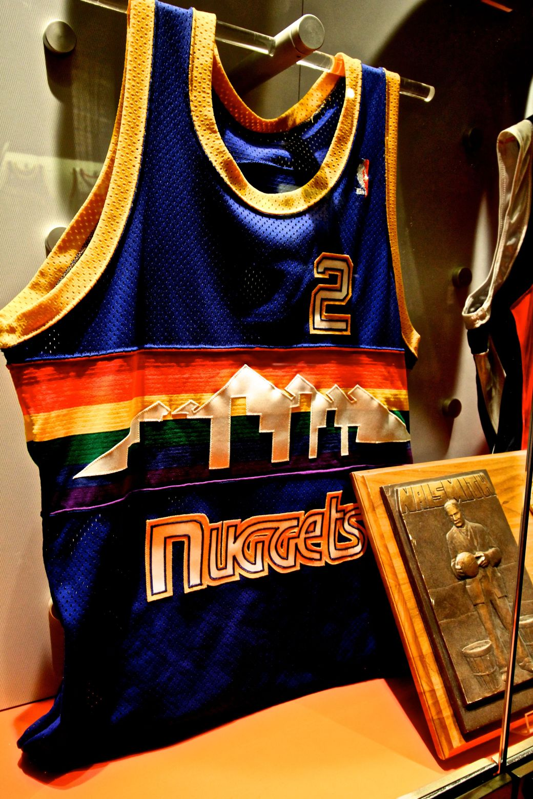 Springfield Naismith Memorial Basketball Hall of Fame nuggets jersey