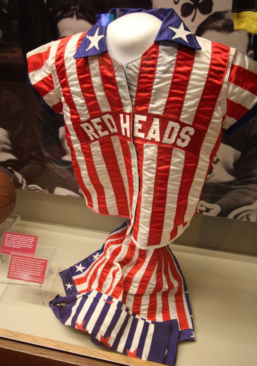 Springfield Naismith Memorial Basketball Hall of Fame old basketball uniform