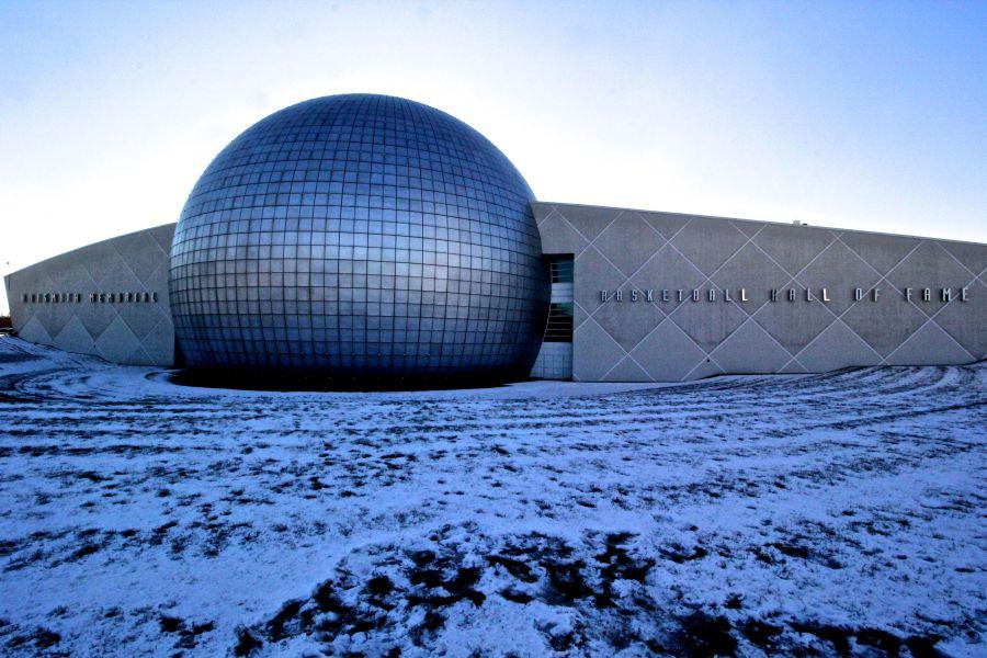 Springfield Naismith Memorial Basketball Hall of Fame outside 2